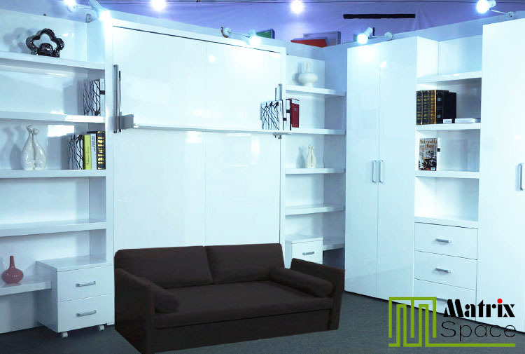 El espacio moderno muebles de ahorro innovadoras, oculta la reina de ...