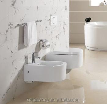 KB 155 Newest Design Bathroom Conceal Water Tank Hanging Toilet Wc