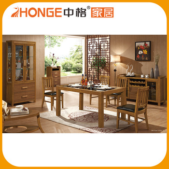 Cheap Price Malaysia Design Wood 6 Seater Dining Table Set