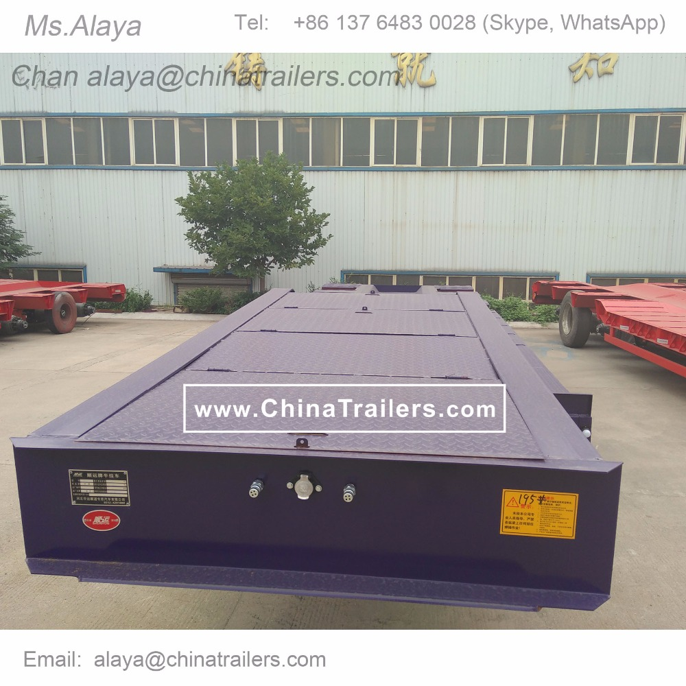 ChinaTrailers Semi Trailer Lowbed/ Lowboy Trailer for Promotion