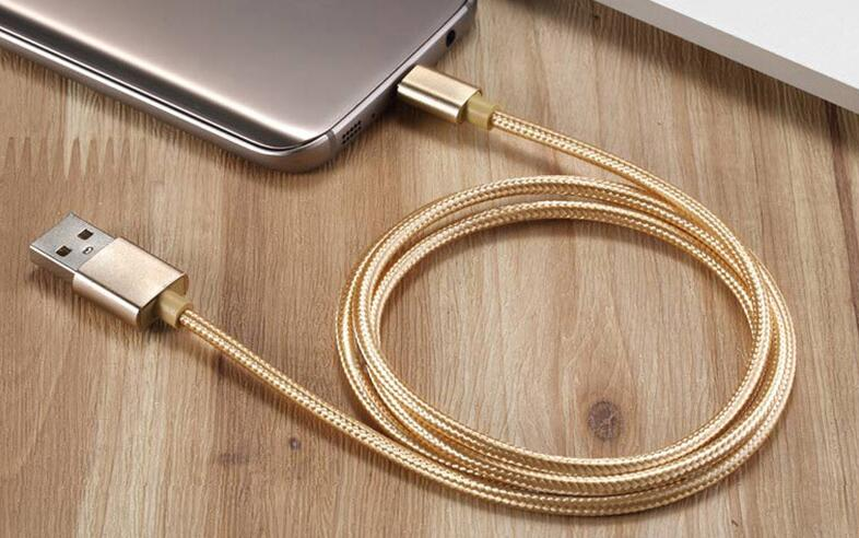 High Quality Aluminum Charger Wire Cable for Iphone Usb Cable 8 Pin for Samsung Micro Charger Cable
