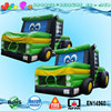 truck giant inflatable bouncer, car bouncy castle with slide for children