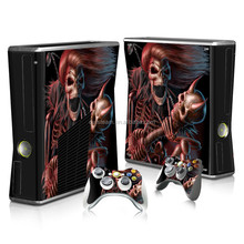 protective vinyl stickers for xbox 360 slim many designs in stock