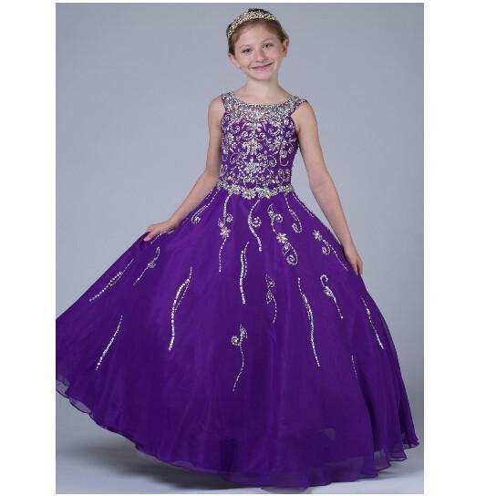 Cute Babies With Purple Dress New Princess Tutu Purple Gray