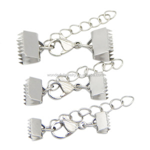 Fashion DIY jewelry accessories stainless steel clip Stainless steel leather cord clip