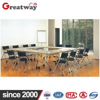 Factory direct sell customized green material floding training table