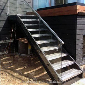 Ordinaire Exterior Stair Design / Outdoor Metal Staircase Design   Buy Outdoor Metal  Stairs,Metal Straight Staircase,Wood Stairs Product On Alibaba.com