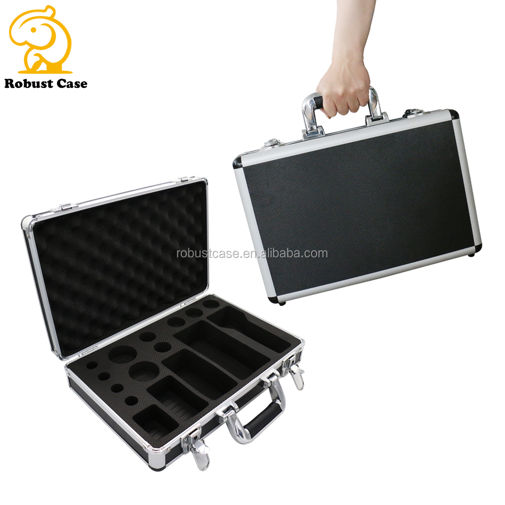 China Manufacturer customized size lockable aluminum case Hard Aluminum carrying tool case with foam