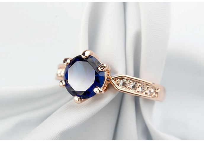 Best products for import Blue stone rings design for men latest gold finger ring designs with AAA zircon