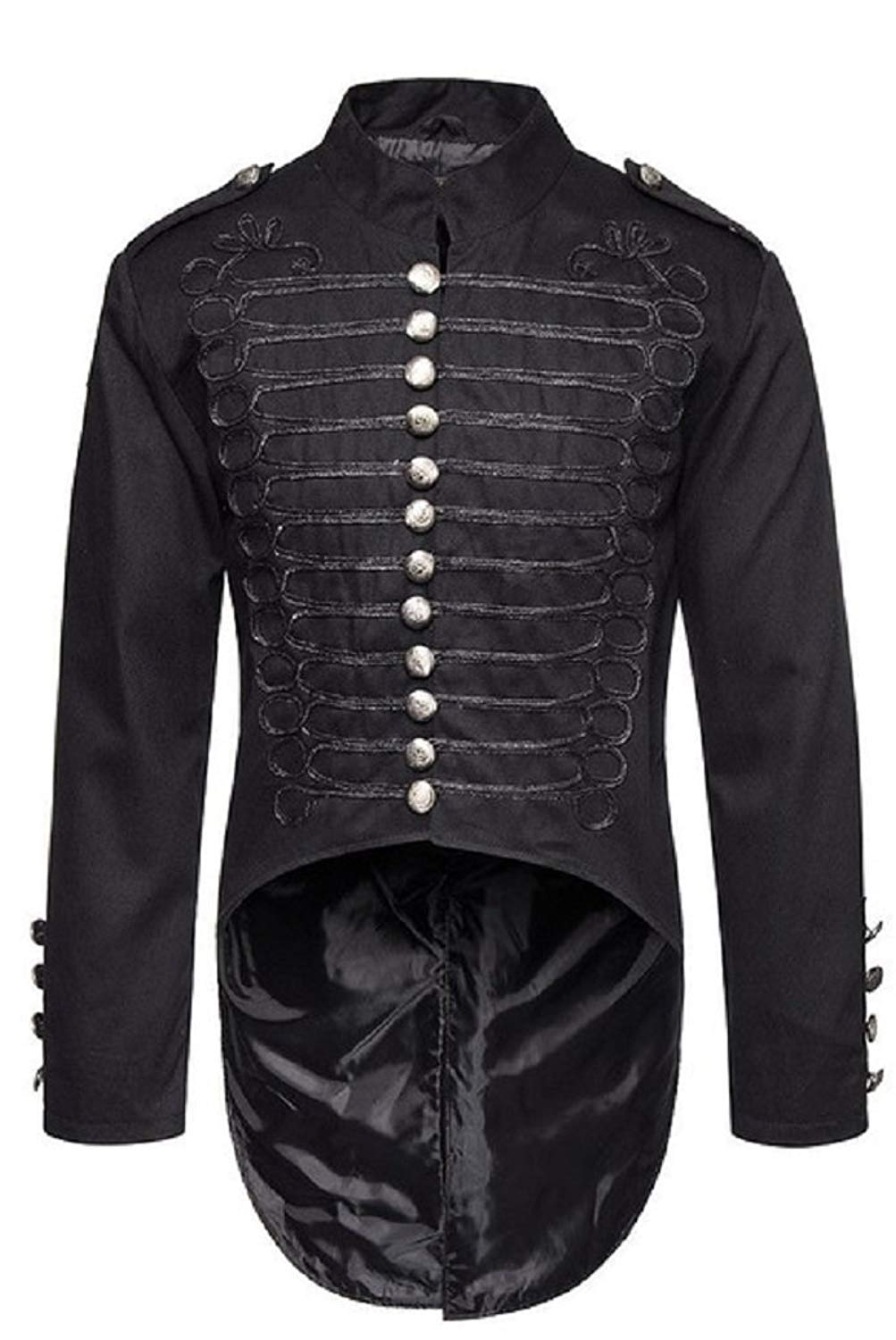 692152afb2e7 Get Quotations · Gothic Master Gothic Steampunk Vintage Victorian Military  Style Tailcoat Jacket For Men