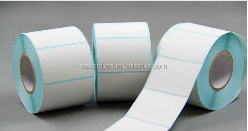 Blank Cheap Thermal Self Adhesive Paper Label Sticker Rolls In ...