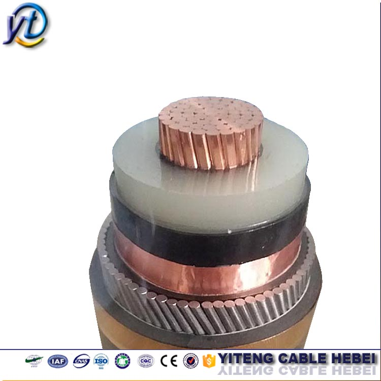 110kv high voltage xlpe insulated power cable