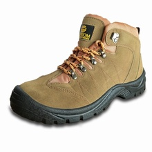 Yulan SS314 Kualitas Unggul Kulit Suede Steel Toe Industrial Safety Shoes