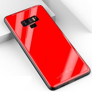 Solid color shockproof 9h tempered glass phone case for samsung galaxy note 9 protective shell