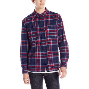 OEM factory yellow plain mens flannel shirt for cheap price