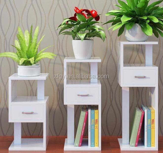 une forme 3 niveaux en bois pot de fleur de jardin. Black Bedroom Furniture Sets. Home Design Ideas