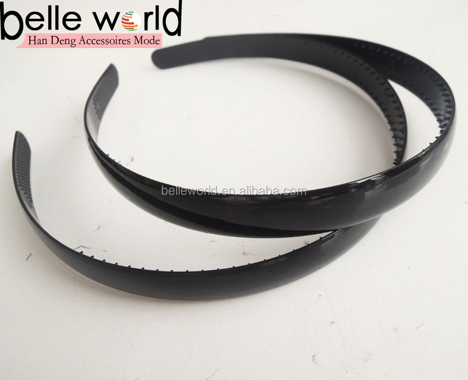 cheap plain black hard plastic headband for DIY
