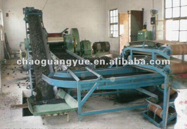 Semi-auto type waste tire recycling machine for rubber powder /tire recycling line