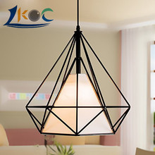 Industrial Loft Style Multicolor Edison Modern Metal Wire Frame Ceiling Pendant Hanging Light Lamp Lampshade