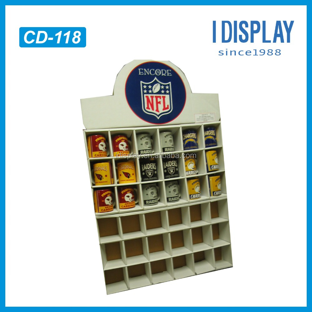 High quality small cardboard counter display stands for supermarket