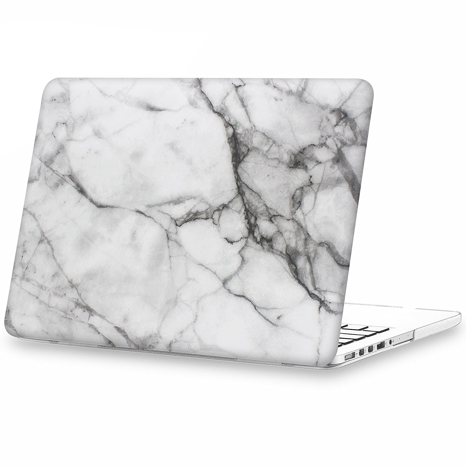 iCasso Macbook Retina 13 Inch Case Hard Marble Shell Protective Case Hard Cover Case For Apple Laptop case Pro 13Inch Retina ModelA1425/A1502 -White Marble Pattern