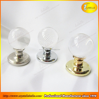 Gold Cabinet Handles with Glass Ball Crystal Drawer Pull Knobs