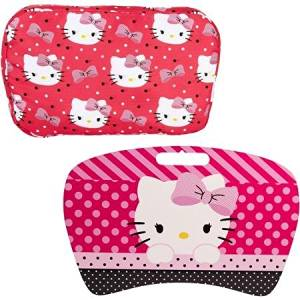 Bright and Colorful Lap Desk with Removable Pillow, Perfectly Adds Cheer or Character To Any Office Space or Student Room, (Hello Kitty)