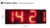 outdoor led digital sign board 24 inch red led clock time date temperature sign for Airport,Train Station