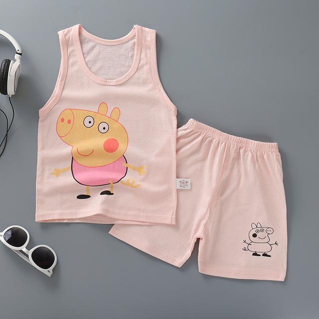 安いベビー子供子供服高品質かわいい girls 中国工場卸売夏のボーイズ服セット