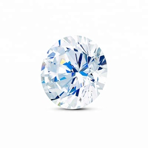 Genuine Zircon 4mm Round Brilliant Cut Natural White Zircon stones