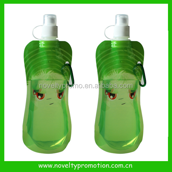 Eco-Friendly Foldable Collapsible Reusable PVC Water Bottle