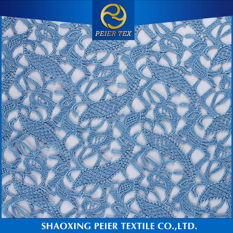 Textiles smooth embroidered sheer voile fabric
