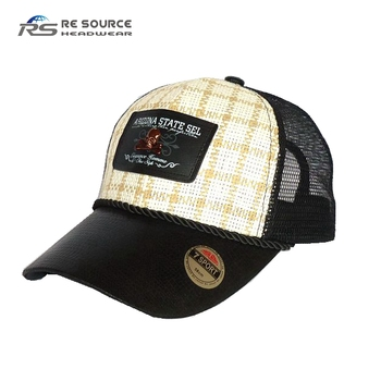 Best Selling 6 Panels Custom Mesh Straw Trucker Hats - Buy Mesh ... bcacb440454