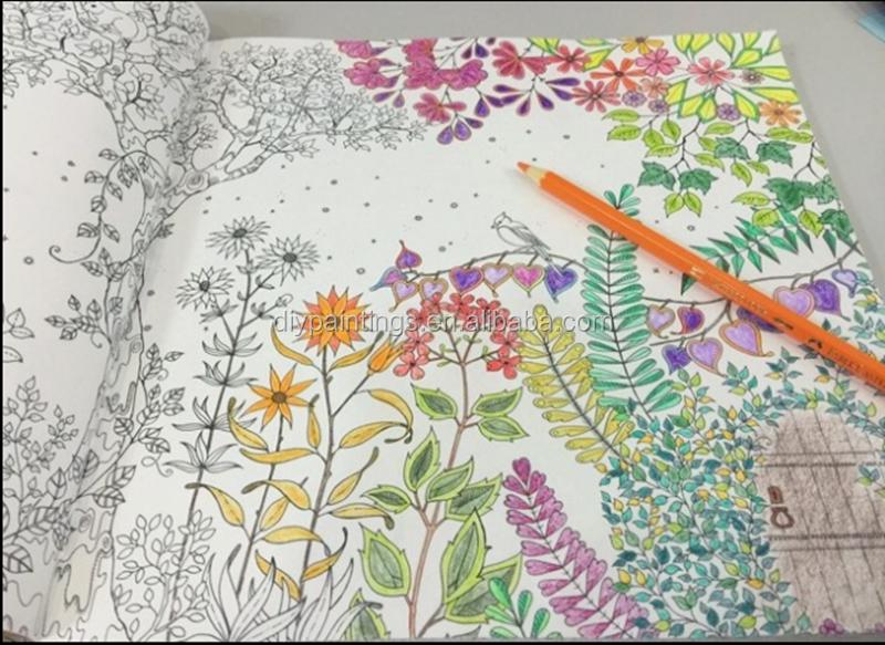 2016 Den New Hand Son Khu Vuon Bi Mat Coloring Book Tre Em