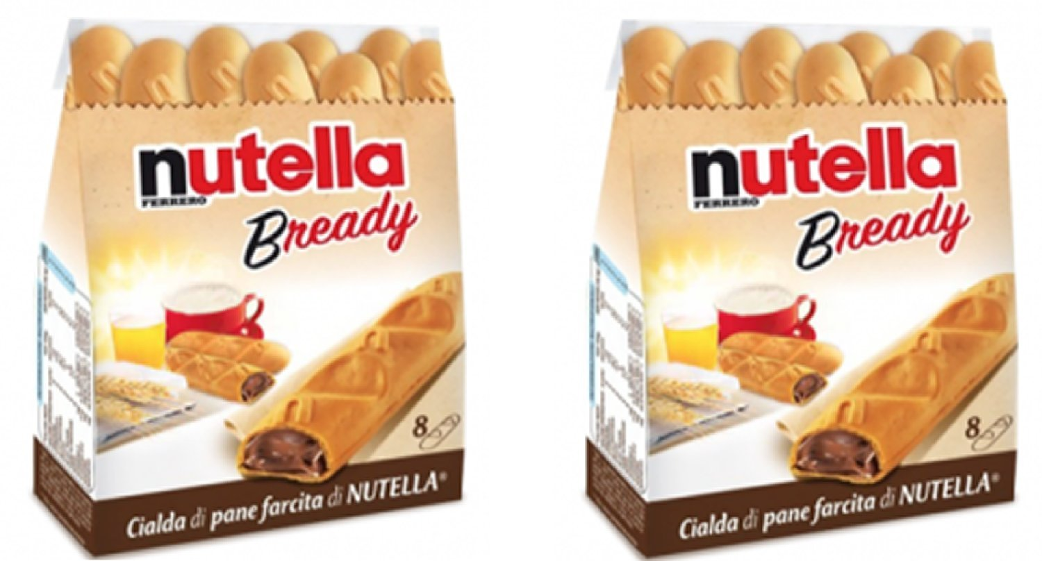 """Ferrero: """"Nutella B-ready """" a crisp wafer of bread in the form of mini - baguette stuffed with a creamy Nutella * 8 pieces * 5.39 oz (153g) * Pack of 2 [ Italian Import ]"""