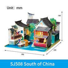 Кукольный домик «сделай сам», деревянный миниатюрный сборочный кукольный домик, модель, строительные наборы, игрушки для детей, взрослый по...(Китай)