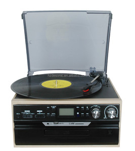 3 Speed Stereo Turntable with CD System, Cassette & AM/FM Stereo Radio With RCA