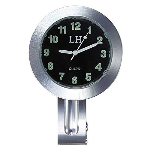 """Waterproof Motorbike Clock - TOOGOO(R) Universal 7/8"""" 1"""" Waterproof Motorcycle Motorbike Handlebar Mount Clock Black UK"""