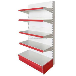 Single side product display stands shelf/Supermarket shopping shelf/ Five layers wall display rack