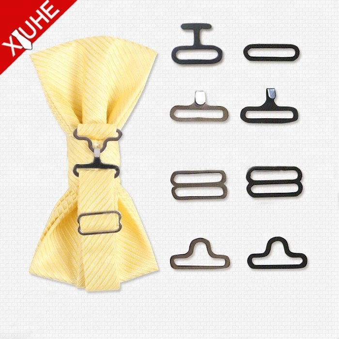 Fashion Metal bow tie <strong>buckle</strong>,hardware,hook and eye bow tie hooks