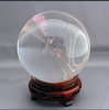 Christmas gift crystal ball with wooden base crystal stand decorative ball