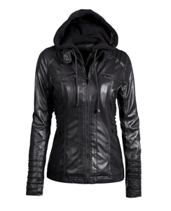 Motorcycle Cordura Jacket Woman Fitted Leather Jacket with slant zipper closure,ladies' clothing