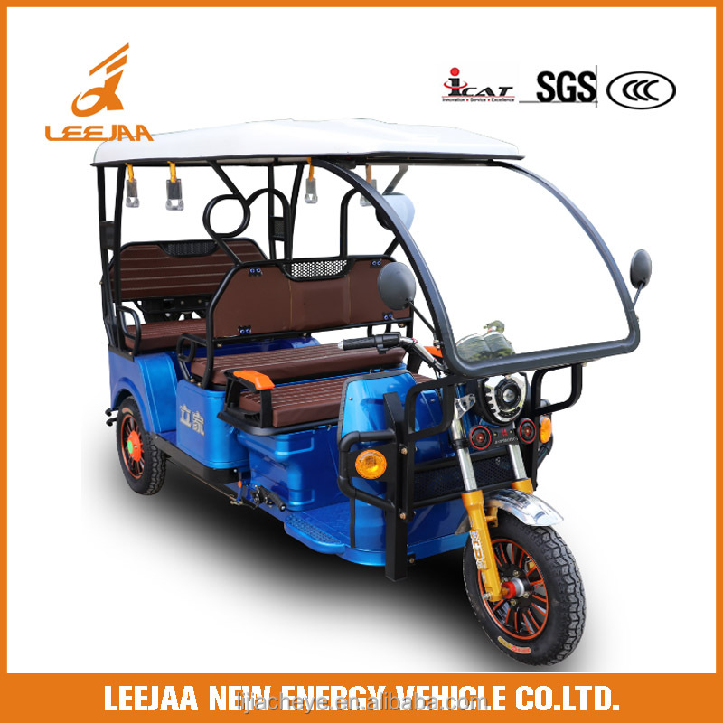 I CAT approval battery operated electric tricycle for passenger e rickshaw hot selling in india