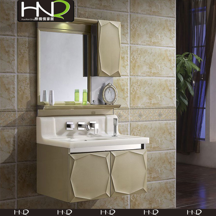 Laundry Vanity Stainless Steel Bathroom Cabinet with medical cabinet for Hotel