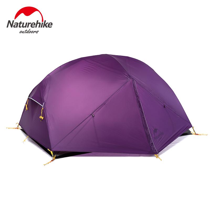Naturehike Mongar 20D Siêu Nhẹ Ngoài Trời Không Thấm Nước Gấp Cắm Trại 2 Man Xe Cắm Trại Lều