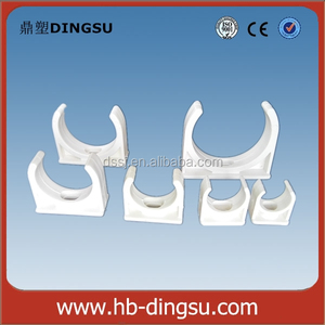 Grey Conduit Electrical Saddle Clamp PVC Sanitary Fittings