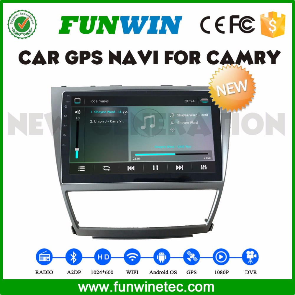 Cheapest <strong>Toyota</strong> Camry 2008-2011 multimedia player car dvd player with gps 2 din car radio android touch screen support swc WIFI