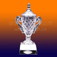 High Quality large crystal trophy cups