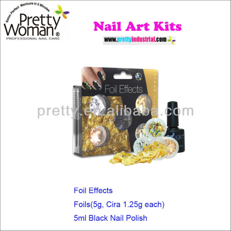 Hot Sale Foil Effects Nail Art Kits With 5g Foils,Circa 1.25 Each ...