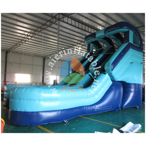 Bouncy castle double slip n slide giant inflatable jumping castles with water slide combo bouncer waterslide with pool